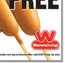 Buy One Corn Dog, Get One FREE